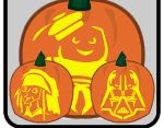 Free Printable Halloween Jack O' Lantern Pumpkin Carving Patterns Templates, Movies, Cartoons, Sports and More in PDF form