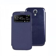 NEW FLIP S-VIEW CASE COVER FOR SAMSUNG GALAXY S4 SIV I9500 FREE SCREEN PROTECTOR -Dark blue - Aulola Online Store $4.57