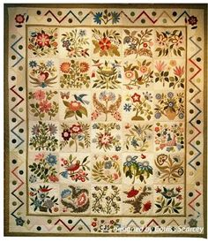 The Caswell Quilt   Circa 1835 - This stunning quilt was inspired by the famous Caswell Carpet which resides in the Metropolitan Museum of Art in New York.