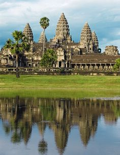 "One of the most significant symbols of Cambodia, embroidered on its flag, Angkor Wat is the ultimate place for history lovers. The ""city of temple"" will fascinate you with its atypically oriented to west sanctuaries"