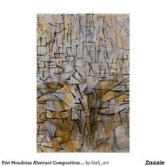 Piet Mondrian Abstract Composition No 3 Poster