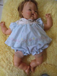 """THUMBELINA DOLL 19"""" 1960s ORIGINAL There was a knob on her back that you could wind up, and her head would move."""