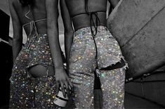 glitter jeans 💎✨ - g l i t t e r rings aesthetic decorations Boujee Aesthetic, Bad Girl Aesthetic, Aesthetic Collage, Aesthetic Vintage, Aesthetic Photo, Aesthetic Pictures, Aesthetic Fashion, Black And White Picture Wall, Black And White Pictures