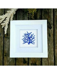 Sea Glass Decor, Sea Glass Crafts, Sea Glass Art, Sea Glass Jewelry, Coral Reef Art, Coral Blue, Beach Keepsakes, Sea Glass Mosaic, Glass Photo