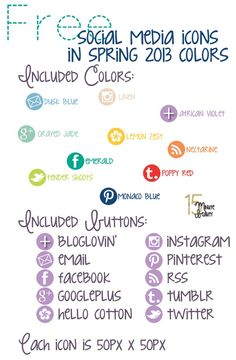 Free Icons in 2013 Spring Colors