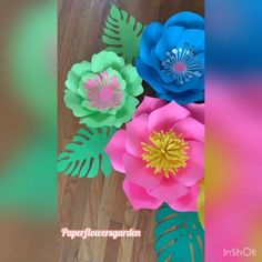 Paper Flower Decor, Giant Paper Flowers, Flower Decorations, Instagram, Bright Colours, Floral Decorations, Floral Headdress, Paper Flower Centerpieces