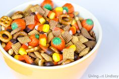 My favorite party mix snack for Halloween entertaining.