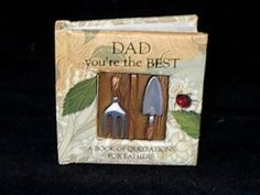 """History and Heraldry Miniature Gift Book """"Dad You're the Best""""  A Book of Quotations for Fathers (Item #RB02)"""