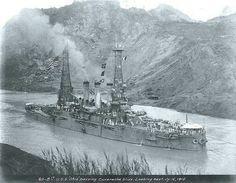 USS Ohio BB-12, first USN ship through the Panama Canal
