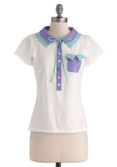 easy-breezy-blouses:  Pastel Me a Story Top