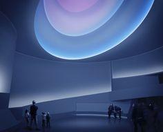Iluminación artística. Museo Guggenheim de Frank Lloyd Wright se transforma temporalmente bajo la intervención de Turrell.
