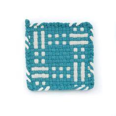 Potholder Loom, Potholder Patterns, Loom Knitting Patterns, Weaving Patterns, Rug Loom, Loom Weaving, Hand Weaving, Plastic Canvas Crafts, Hot Pads