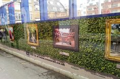Image of hoardings at Dean Street, Tottenham Court Road... Gallery on the outside