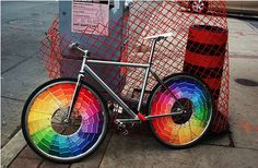 Bicycle Color Wheel! I wanna do this to my bike this spring!