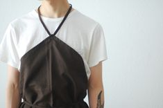 "Ouur by KINFOLK(アウアー バイ キンフォーク) ""Linen Barista Button Apron"""
