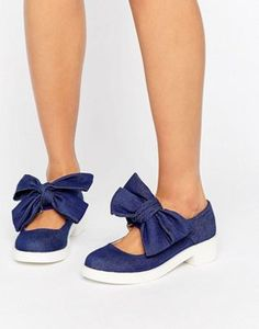 Zapatos planos con detalle de lazo MOUSSE de ASOS