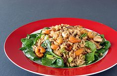 SOSCuisine - Rice, Spinach and Cashew Salad : This salad is a meal in itself, ideal for pot-lucks and pic-nics.