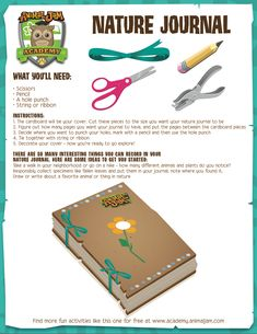 Here's a super fun springtime activity from Animal Jam Academy! Make your own Nature Journal to record what happens as the seasons change! Keep exploring and PLAY WILD!