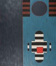 Lauri Laine: Este II, 1989, öljy kankaalle, 190x234 cm - Bukowskis Contemporary F178