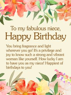 To My Fabulous Niece