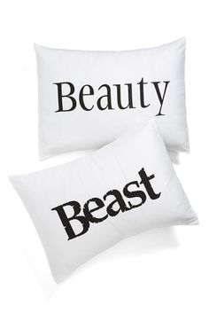 beauty and the beast pillows