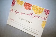 Whitney + A.K.'s Colorful Letterpress Wedding Invitations