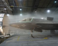 The F-35 was hit with icy winds during a recent round of testing.<br />