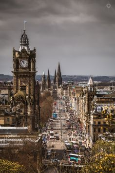 Hubbub - A simple, cityscape image of busy Princes Street in Edinburgh, Scotland, from Calton Hill. Scotland Nature, Scotland Uk, Edinburgh Scotland, Edinburgh City, Going Home, Augmented Reality, Adventure Awaits, Vacation Trips, Beautiful Places