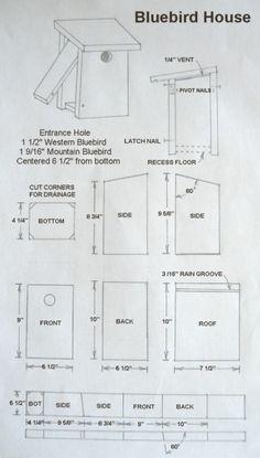 Nest Box (Birdhouse) Plans