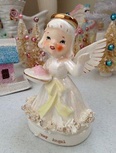 Vintage Napco 1950's Japan May Angel Ceramic by myfavoritefinds