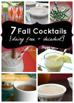Clearly, you guys are as ready for fall as I am, so here are some fall cocktails!