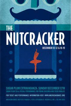 Nutcracker Poster, American Dance Institute Theatre
