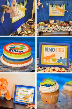 Read all about this Three-Rex Dinosaur 3rd Birthday Party at Elvamdesign.com.