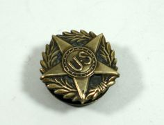 American Legion Antique Button Stud by GrannysThimble on Etsy, $8.00