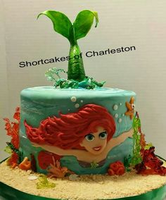 Little mermaid cake...adorable