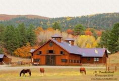 Horse farm in Northern New Mexico by PhotosToArtByMike, via Flickr  OMGOSH, please Calgon... take me here!!!
