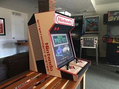 I built a NES bartop with old Advantage joysticks. Build video in comments! - Album on Imgur