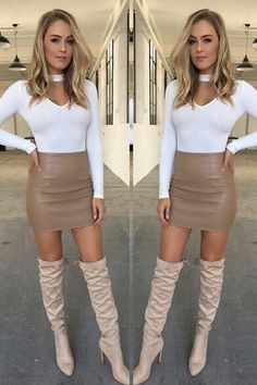 Cheap short mini skirt, Buy Quality mini skirt directly from China high waist pencil Suppliers: Women Ladies Sexy Bandge Leather High Waist Pencil Bodycon Hip Short Mini Skirts Leather Mini Skirts, Leather Skirt, Pu Leather, Tight Dresses, Sexy Dresses, Sexy Women, Vestidos Sexy, Business Casual Attire, Bodycon