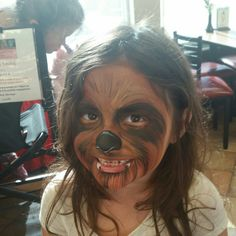 Chewbacca Face Painting Design by Linda Schrenk #amazingfacepaintingbylinda  http://psalmbook.wix.com/lindas-face-painting  face panting jacksonville florida
