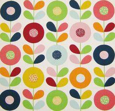 Scandinavian Fabric Cirkelblomma by Kinnimark by MeggyMagpie