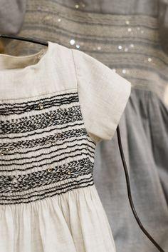 Bonpoint Winter 2015 New Chich #windows #BonpointWindows #newchic #duchesse #dress #smocked #couture