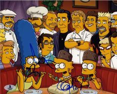 Every Celebrity Chef and Cooking Personality That's Been On The Simpsons — FOOD & WINE is part of cooking Cartoon Guys - From The Muppets and KFC to Guy Fieri and Gordon Ramsay, here are all the celebrity chef cameos from The Simpsons The Simpsons Show, Simpsons Cartoon, Cartoon Man, Gordon Ramsey, Horror House, Guy Fieri, Futurama, Bart Simpson, Animation