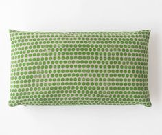 Dot Block Print Pillow Spring Green