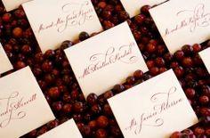 REVEL: Cranberry Escort Card Display