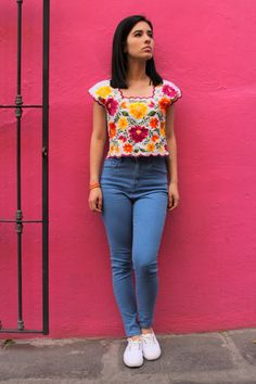 Yucachulas, más que huipiles… – México a colores - ausgefallene Kleidung/unusual clothes 2019 - Mexican Blouse, Mexican Outfit, Mexican Dresses, Mexican Clothing, Summer Outfits, Casual Outfits, Cute Outfits, Fiesta Outfit, Boho Fashion