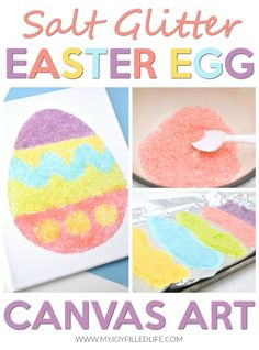 This Easter egg craft is so easy and fun to make. With minimal supplies, your kids can have fun and be creative, making an amazing art piece you will treasure. #easter #eastercraft #easteregg
