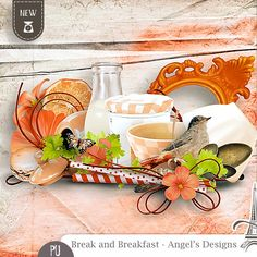 Sweet-Chick Scrap and Co Essentiel, by Angel's Designs Break and Breakfast for 1.40 euros