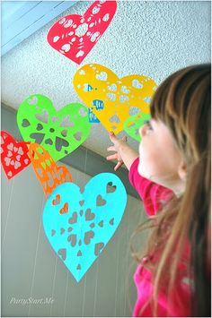 Heart Snowflakes. This would be great for Valentine's Day.