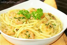 Cilantro &/or Parsley Shrimp with Pasta