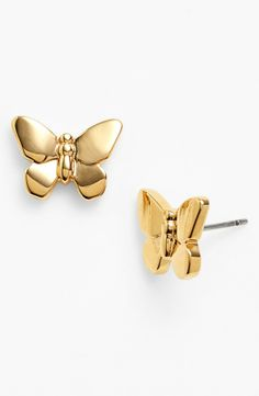 Tory Burch Butterfly Stud Earrings.